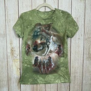 The Mountain   American Wolf Dreamcatcher T-Shirt
